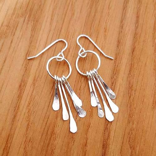 Feathered Chandelier Drop Earrings
