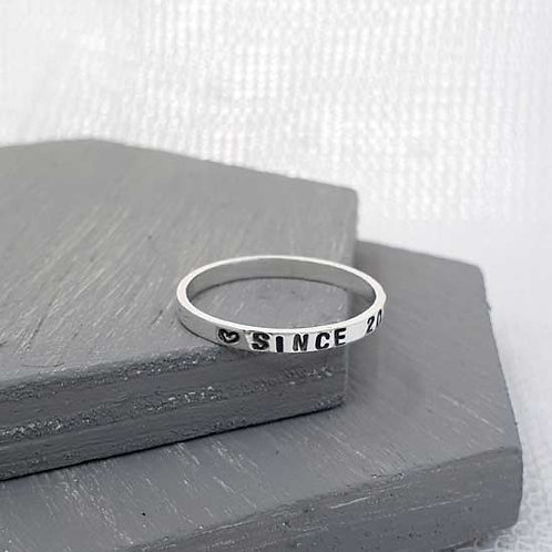 Skinny Story Stacker Ring