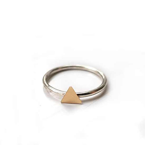 Tiny Gold Triangle Stacker Ring