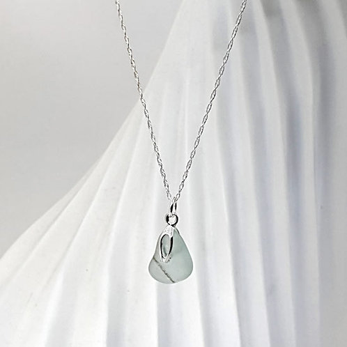 Mermaids Tear - Seaham Sea Glass Pendant Necklace