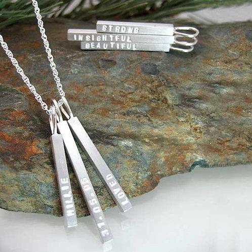 Multi Bar Pendant Necklace
