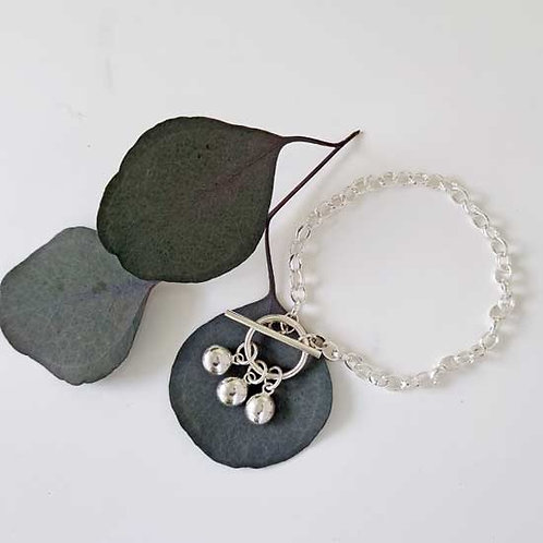 Multi Molten Charm T-Bar Bracelet