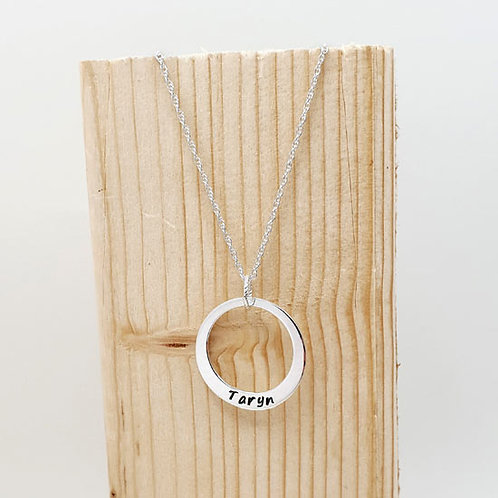 Large Family Stacker Washer Ring Necklace