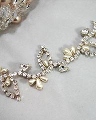 Wedding crystal hair vines & jewellery