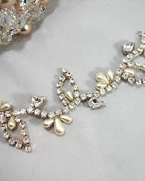Wedding crystal hair vines & jewellery