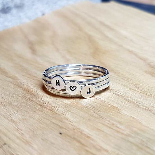 Initial Stacker Rings - Set of 3
