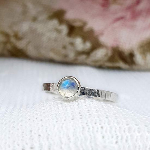 Opal Bezel Stacker Ring