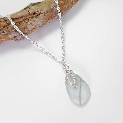 Pale Blue Mermaids Tear - Seaham Sea Glass Pendant Necklace