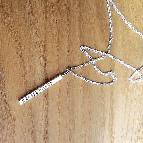 35mm Bar Pendant Necklace