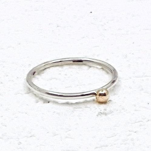 Gold Molten Dot Stacker Ring
