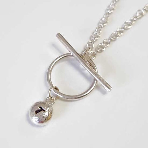 Molten Charm T-Bar Pendant Necklace