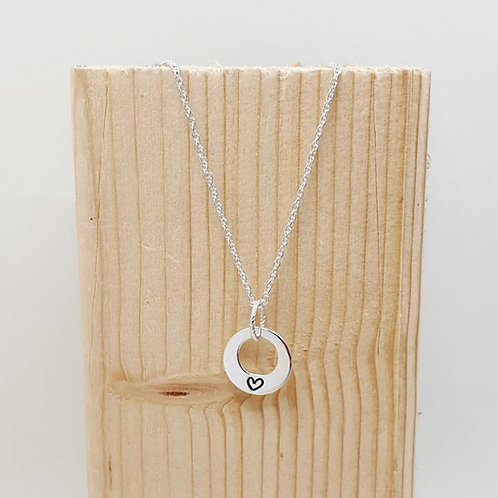 Small Family Stacker Washer Ring Necklace
