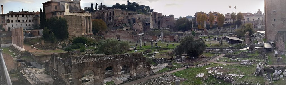 ruins outside the Colosseum
