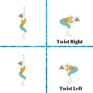 Yoga for Digestion: dynamic chair twist