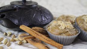 Masala Chai Rhubarb Muffins