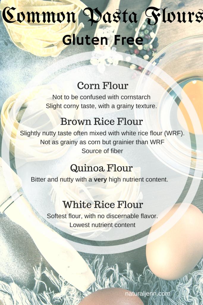 Common Gluten Free Pasta Flours