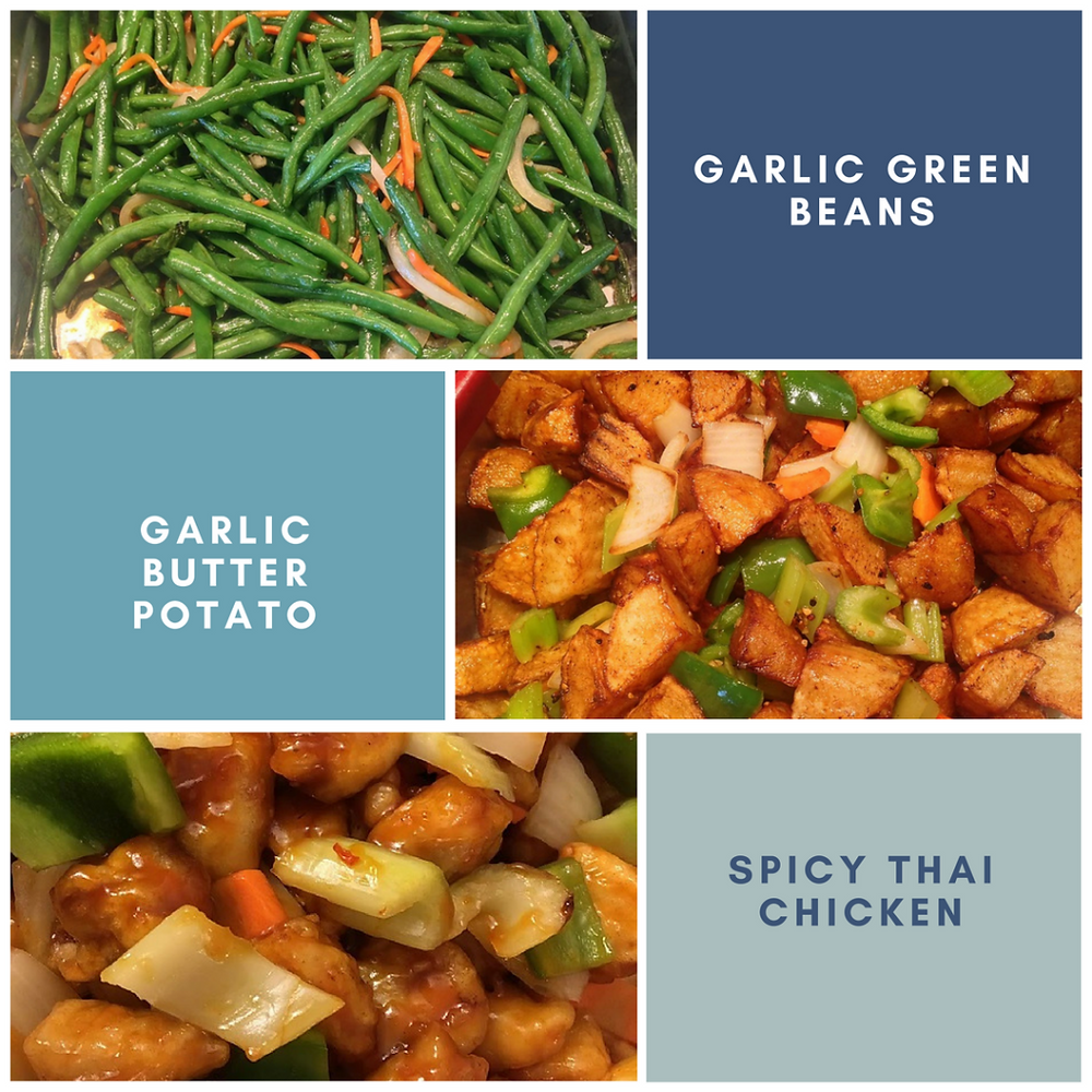 3 dishes from the beansprout gluten free buffet
