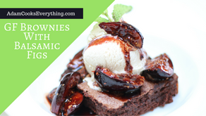 Gluten Free Brownie Sundae with Balsamic Fig Compote