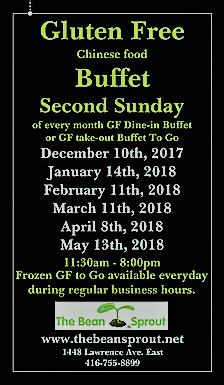 Upcoming dates for the Bean Sprout Gluten Free Chinese Buffet Toronto