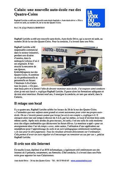 nouvelle auto ecole_auto ecole drive_auto ecole calais_permis pas cher calais_la Voix du Nord.jpg