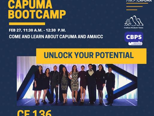 CAPUMA Presents: 2020-2021 CAPUMA BOOTCAMP