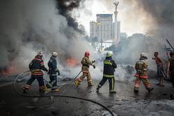 Firefighters on the Maidan