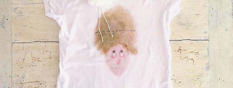 tra testa e nuvole - t-shirt donna