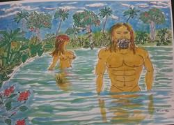 Adam and Eve, brown skin