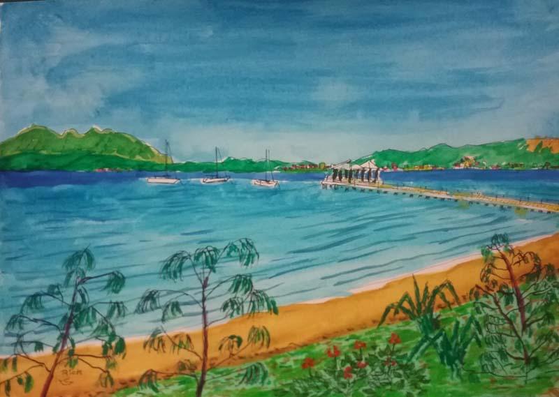 Picnic Bay beach &  jetty