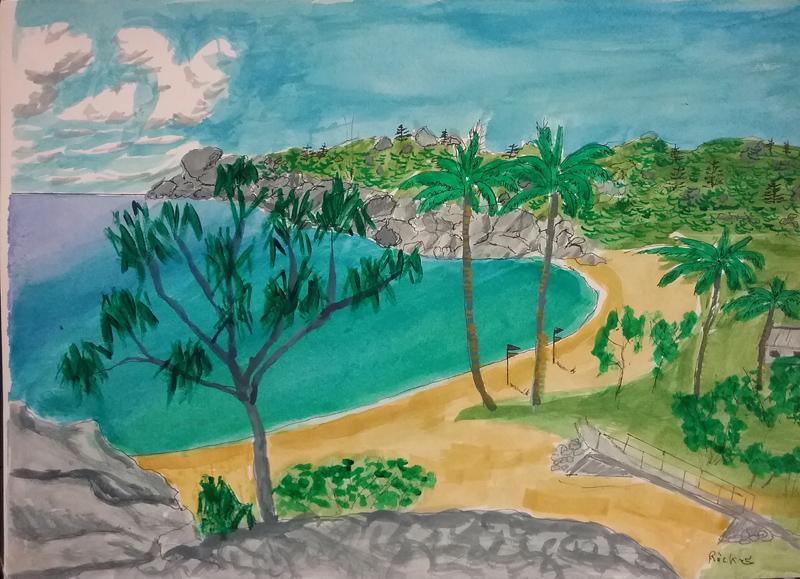 Alma Bay from Alma Den