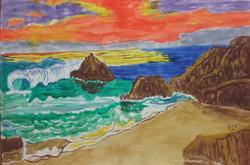 Northern California coast sunset