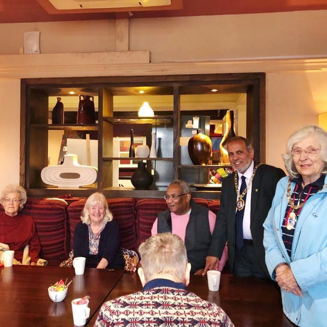 Joined by The Mayor of Peterborough Gul Nawaz & Deputy Mayor of Peterborough Diane Lamb at one of our coffee mornings!