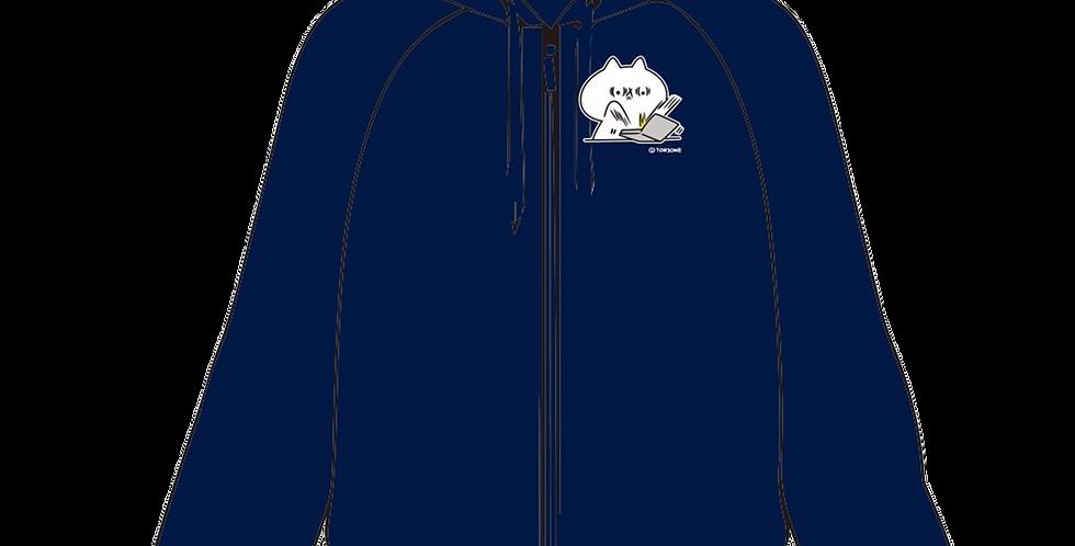 フード付きジャケット(仕事中)
