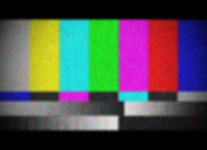 Color bar Test Screen With TV Damage, TV