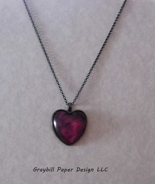 Gunmetal Heart Pendant