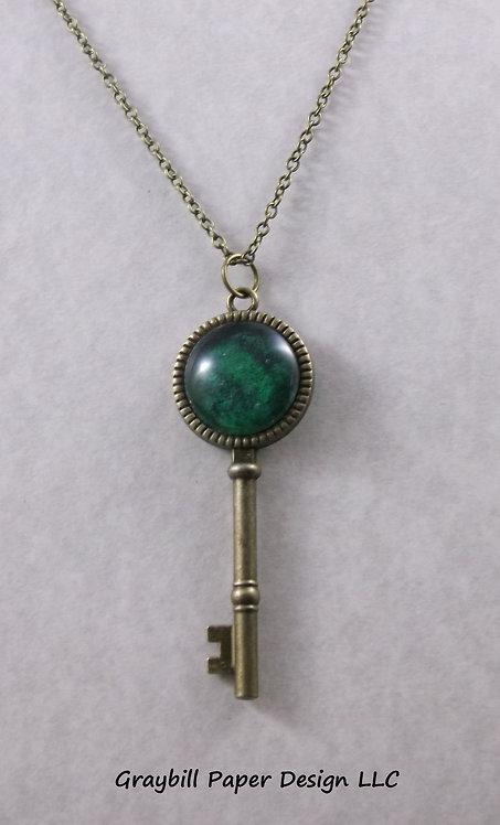 Antique Brass Key Pendant