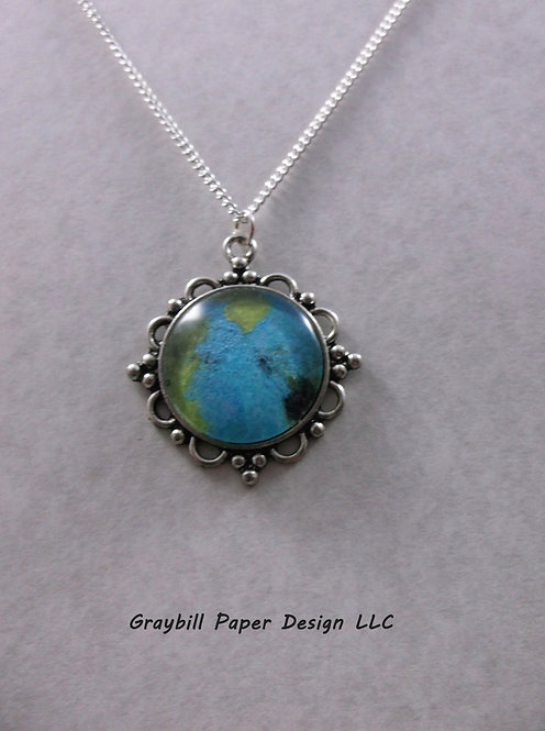 Scrolled Circle Pendant