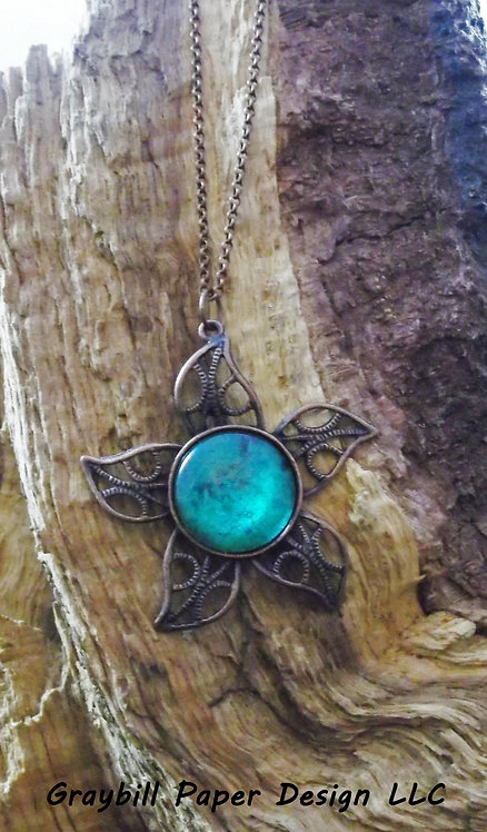 Copper Sun Pendant