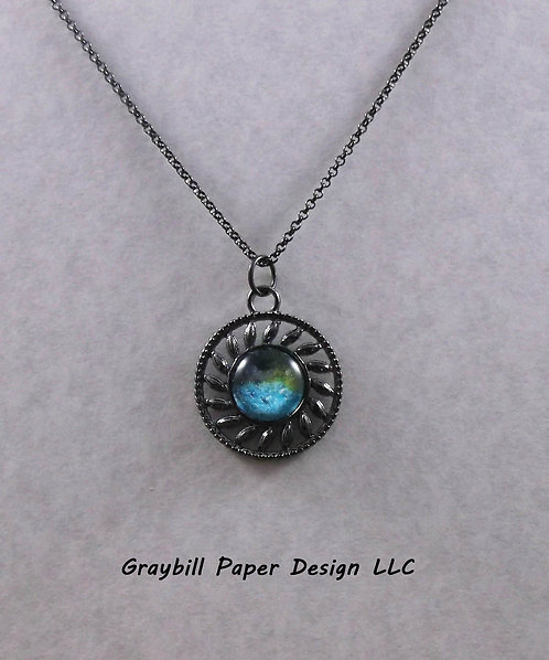 Gunmetal Spiral Circle
