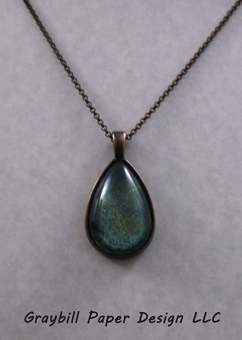 Copper Teardrop Pendant
