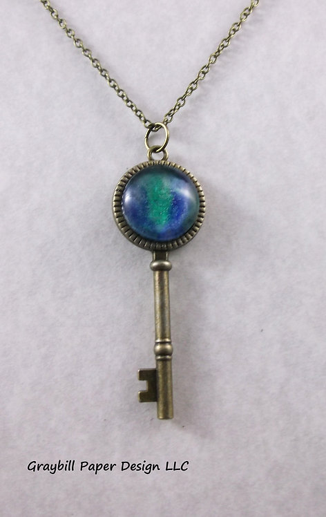 Antique Brass Key Pendant