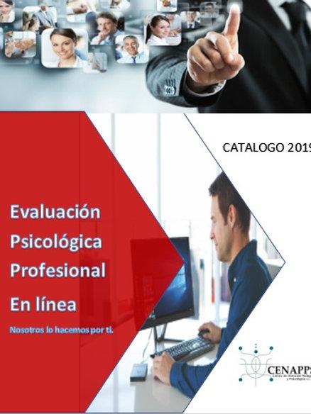Catálogo Evaluación Psicológica en línea