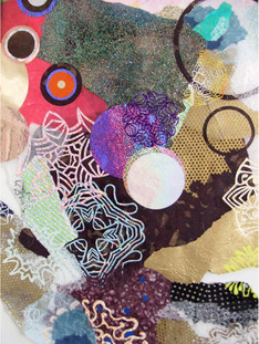 Untitled (detail), mixed media on mylar, 2009