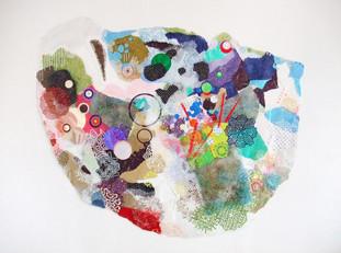 Untitled, mixed media on mylar, 2009