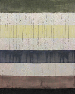 2017 #2, paper, acrylic, and colored pencil on canvas, 60x48 inches, 2017