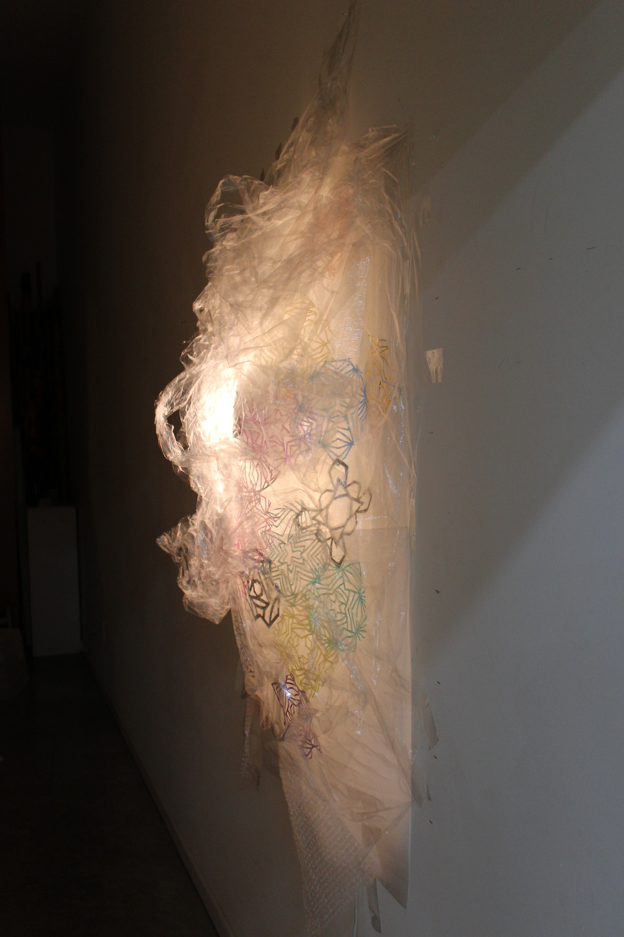 Untitled, mixed media on wall, dimensions variable, 2012