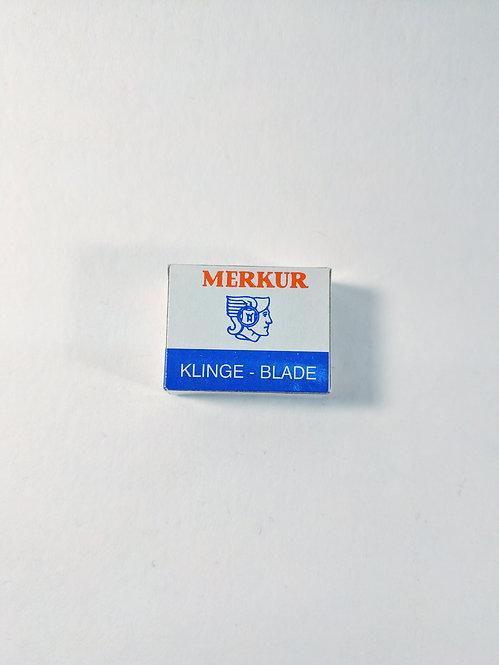 Merkur Moustache Platinum-Coated razor blades, box of 10
