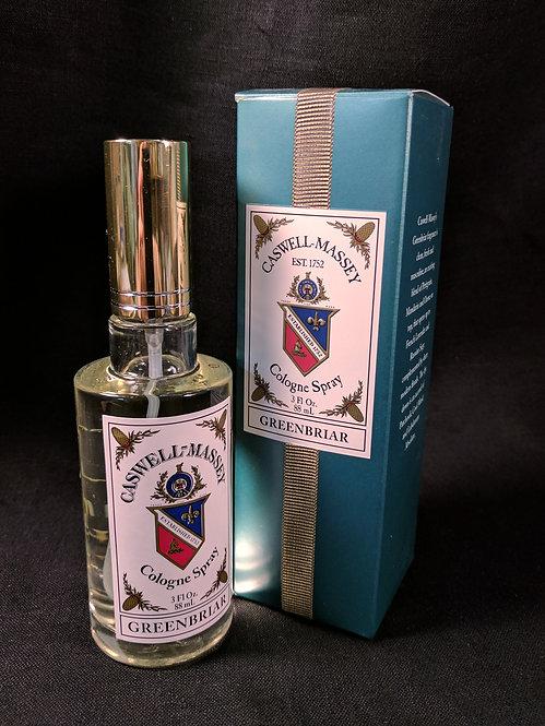 Greenbriar Cologne Spray by Caswell-Massey, 3 oz