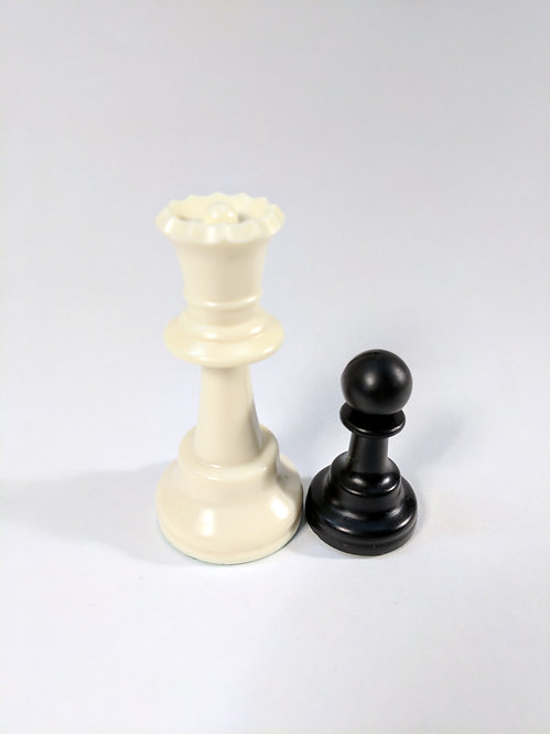 "Double Weighted Plastic Chess Pieces, 3.75"" high"