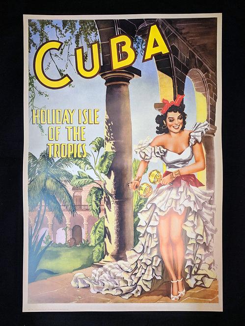Cuba - Holiday Isle of the Tropics poster